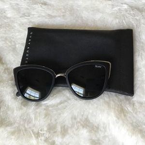 Black and Silver Quay Sunglasses